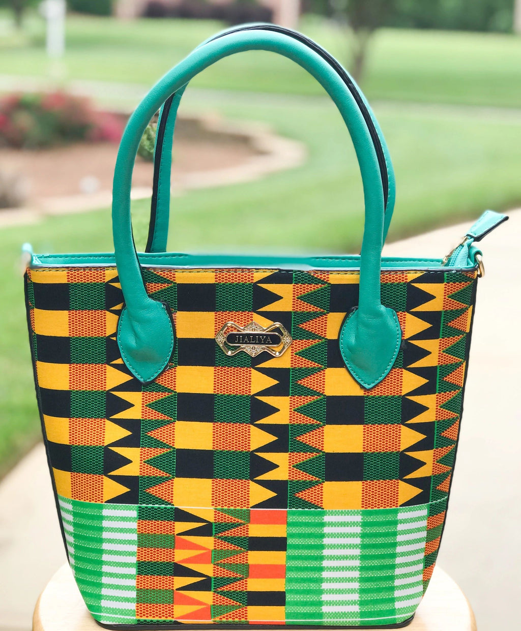 Kente Print Mini Tote