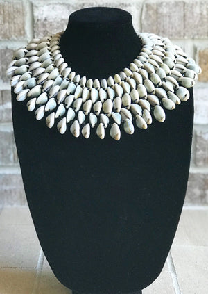 Cowrie Shell Collar Necklace