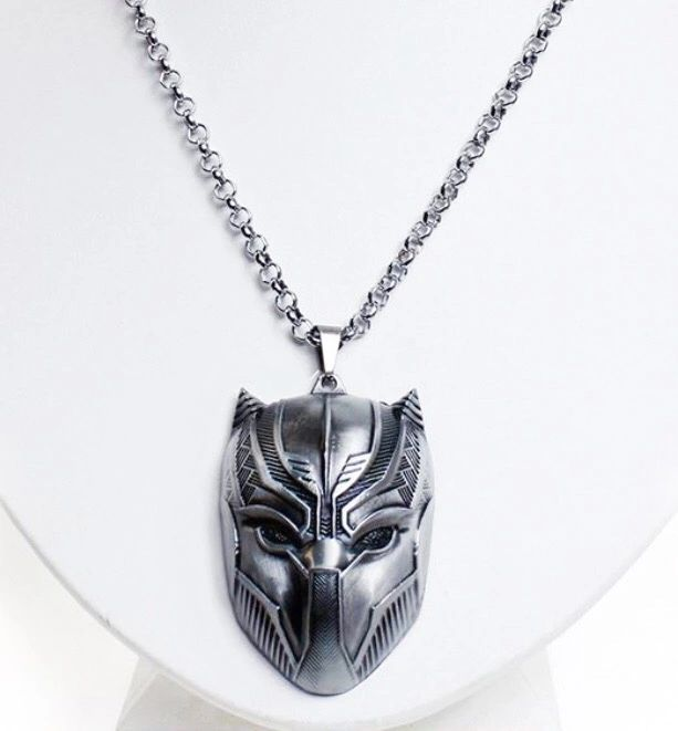 Black Panther Mask Necklace