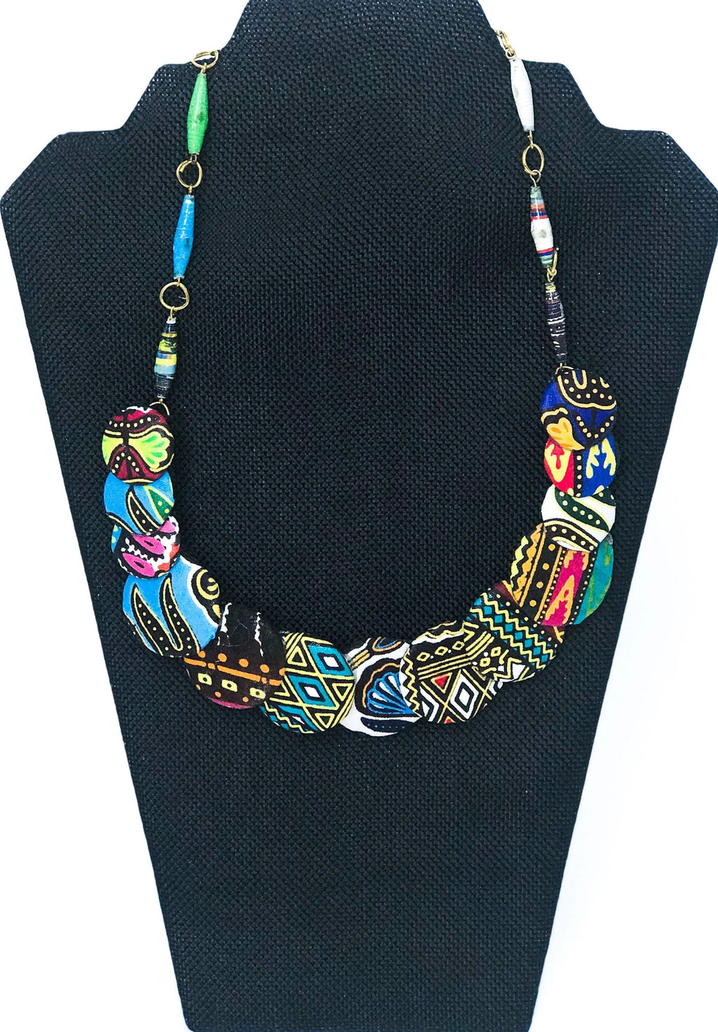 Kitenge Disc Necklace