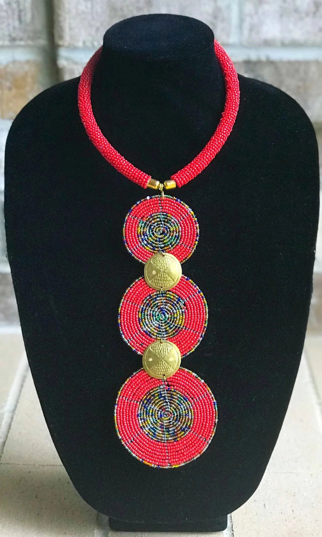 Maasai Bead Royal Necklace Set