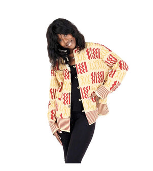 Reversible Mud Print Jacket