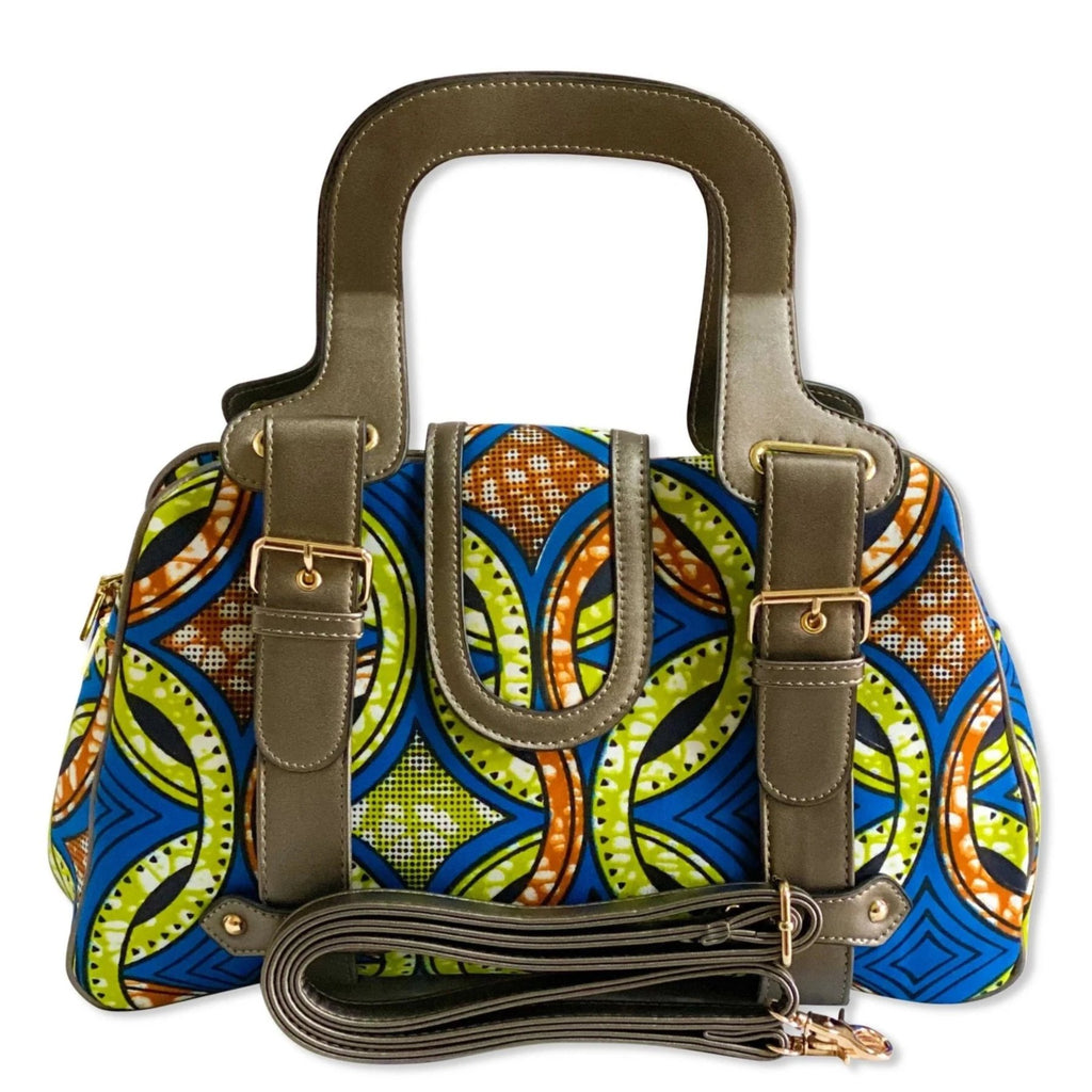 Shewa Ankara Print Medium Satchel Handbag