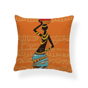 African Print Decorative Throw Pillow Covers
