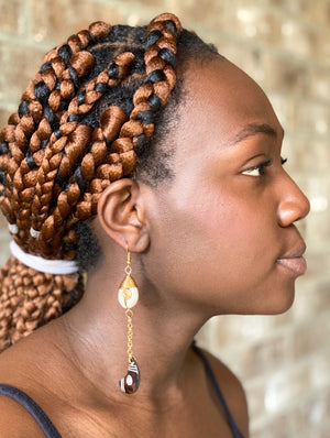 Kenyan Cowrie Olo Earrings