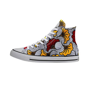 African Print High Top Sneaker