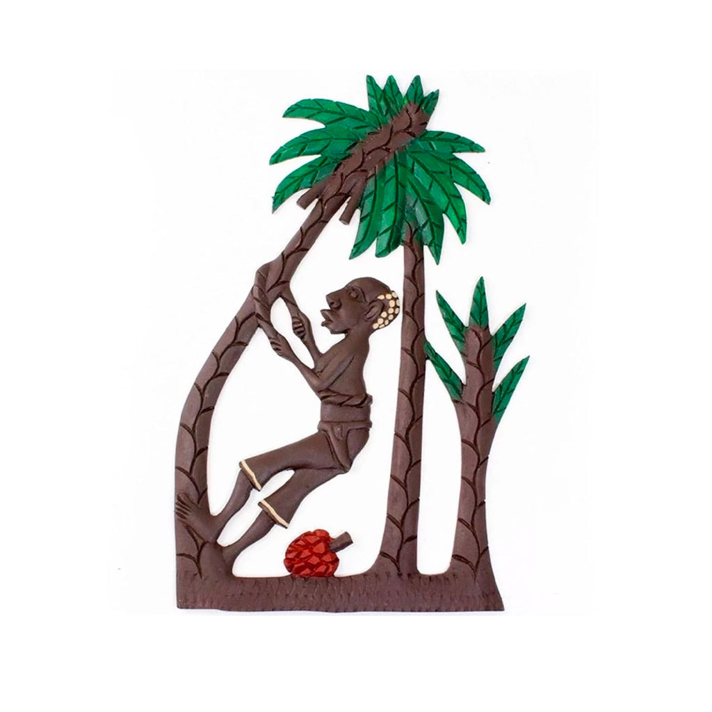 African Tree Climber Wood Plaque