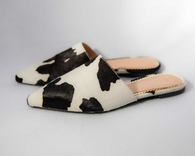 Moo Moo Shoe - Leather Slides