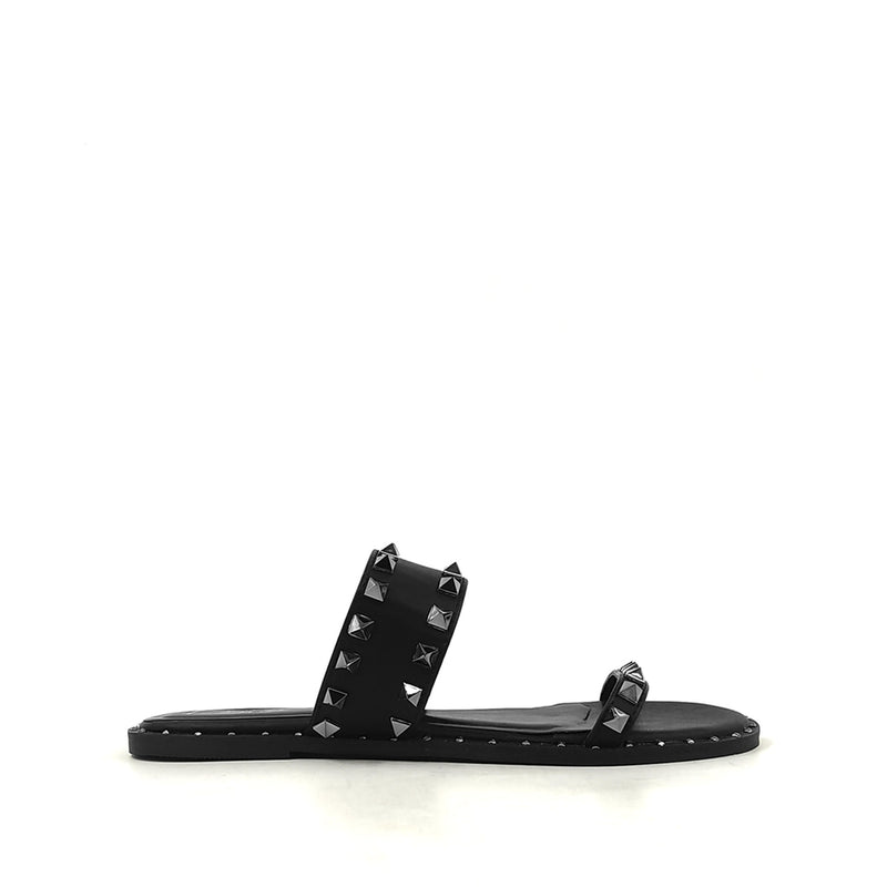 Lexington Black Sandal Metal Stud Spike