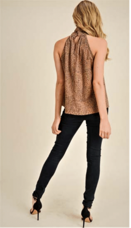Denisse Animal Print Top