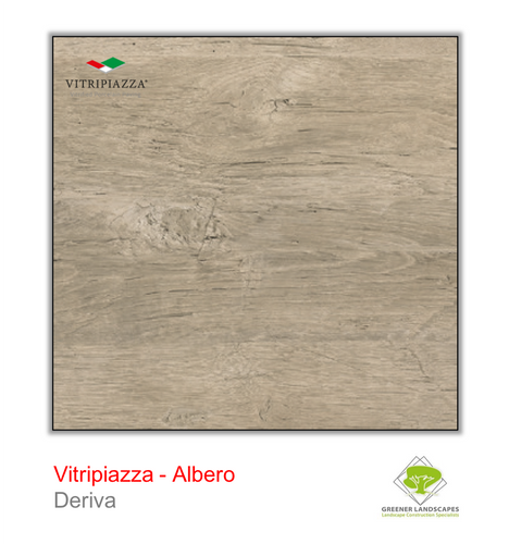 A picture of porcelain paving from the Vitripiazza collection. Pictured is the Albero tile colour option Deriva.