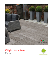 Load image into Gallery viewer, A picture of the Albero tile from the Vitripiazza Porcelain Paving Collection pictured in Porto