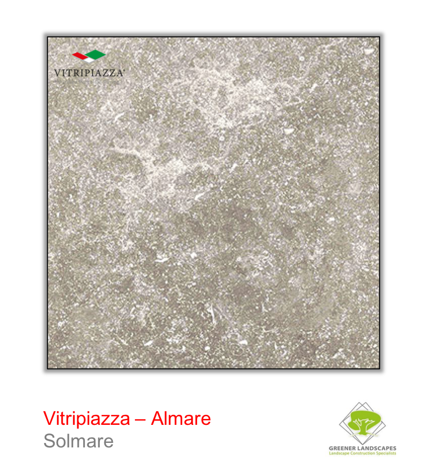 Vitripiazza by Talasey Almare porcelain paving in Solmare.