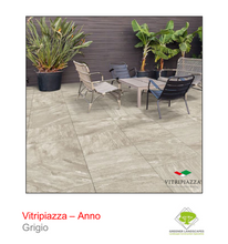 Load image into Gallery viewer, Vitripiazza porcelain paving by Talasey Group in Grigio.