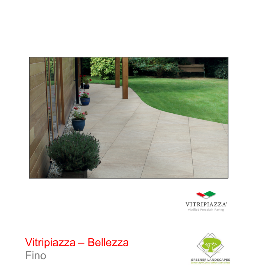 Vitripiazza Bellezza porcelain paving by Talasey in Fino.