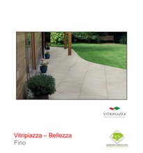 Load image into Gallery viewer, Vitripiazza Bellezza porcelain paving by Talasey in Fino.