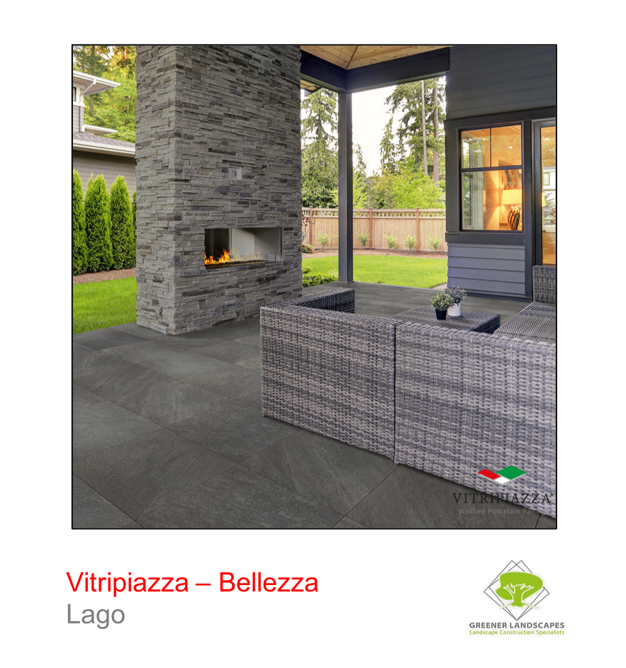Vitripiazza Bellezza porcelain paving by Talasey in Lago