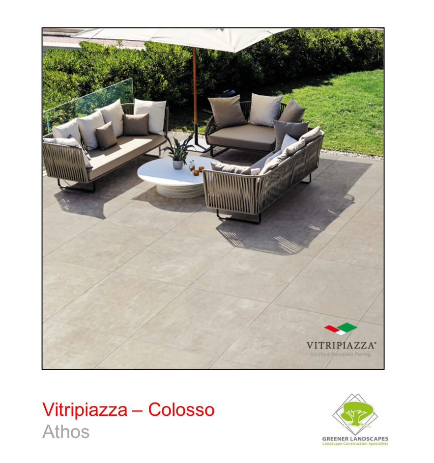 A picture of the Colosso tile from the Vitripiazza Porcelain Paving Collection pictured in Athos.