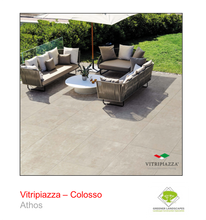 Load image into Gallery viewer, A picture of the Colosso tile from the Vitripiazza Porcelain Paving Collection pictured in Athos.