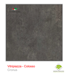 Open image in slideshow, A picture of porcelain paving from the Vitripiazza collection. Pictured is the Colosso tile colour option Cronus.
