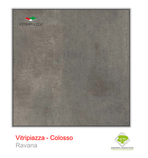Open image in slideshow, A picture of porcelain paving from the Vitripiazza collection. Pictured is the Colosso tile colour option Ravana.