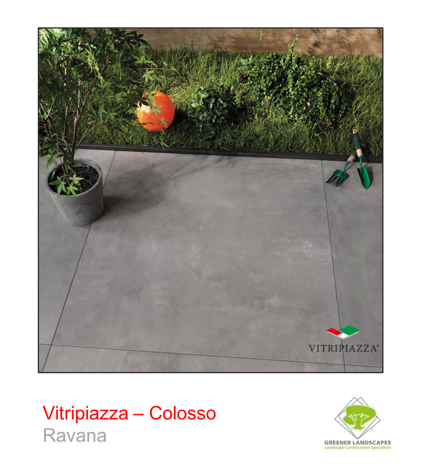 A picture of the Colosso tile from the Vitripiazza Porcelain Paving Collection pictured in Ravana.
