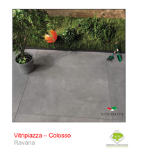 Load image into Gallery viewer, A picture of the Colosso tile from the Vitripiazza Porcelain Paving Collection pictured in Ravana.