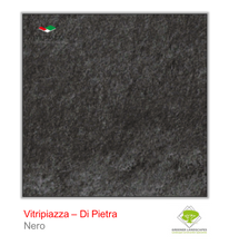 Load image into Gallery viewer, A picture of porcelain paving from the Vitripiazza collection. Pictured is the Di Pietra tile colour option Nero.