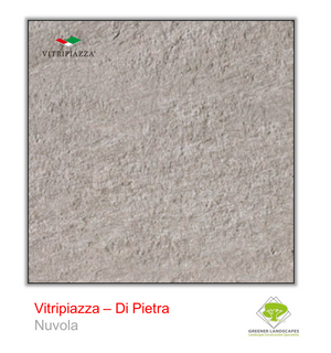 Open image in slideshow, A picture of porcelain paving from the Vitripiazza collection. Pictured is the Di Pietra tile colour option Nuvola.