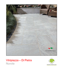 Load image into Gallery viewer, A picture of the Di Pietra tile from the Vitripiazza Porcelain Paving Collection pictured in Nuvola.