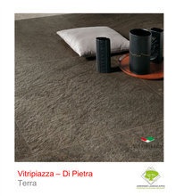 Load image into Gallery viewer, A picture of the Di Pietra tile from the Vitripiazza Porcelain Paving Collection pictured in Terra.