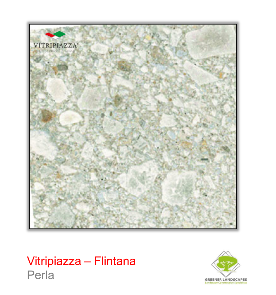 Vitirpiazza Flintana porcelain paving in Perla
