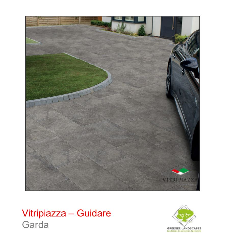 Vitripiazza guidare porcelain driveway tile in Garda by talasey group