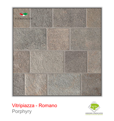 Vitripiazza Romano Porcelain paving tile by Talasey in Porphyry