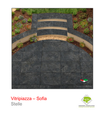 Load image into Gallery viewer, Vitripiazza Sofia Stelle tile by Talasey