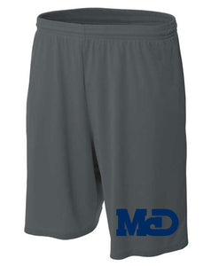 MCD GRAY LOGO ATHLETIC SHORTS
