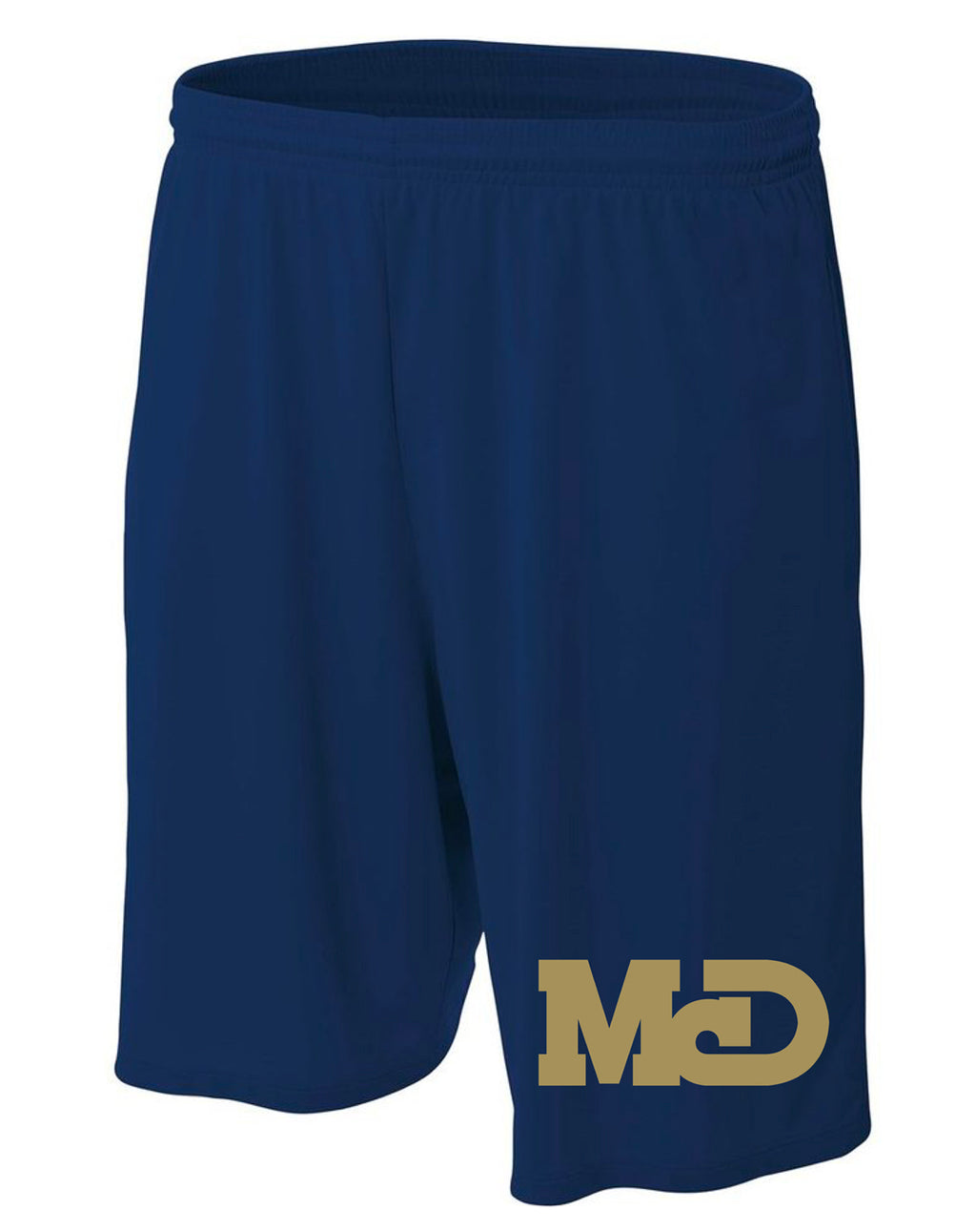 MCD NAVY LOGO ATHLETIC SHORTS