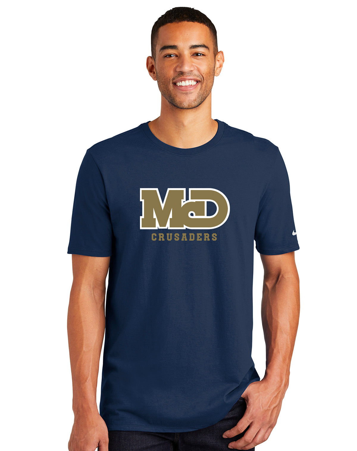 MCD NAVY CRUSADERS LOGO SHORT SLEEVE TSHIRT