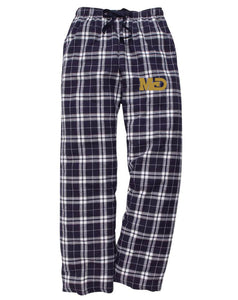 MCD NAVY/WHITE LOGO OPEN FLANNEL PANTS