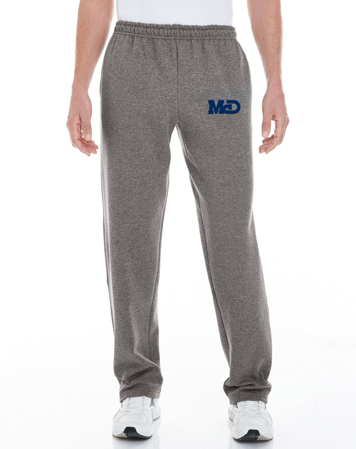 MCD LOGO GRAY OPEN BOTTOM SWEATPANTS