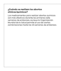 Making an Informed Decision about Abortion: Medical/Chemical (Spanish)