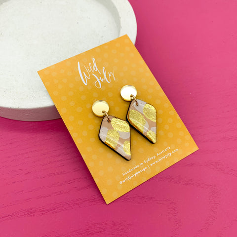 BRUSH FOIL Mini Diamond Dangles