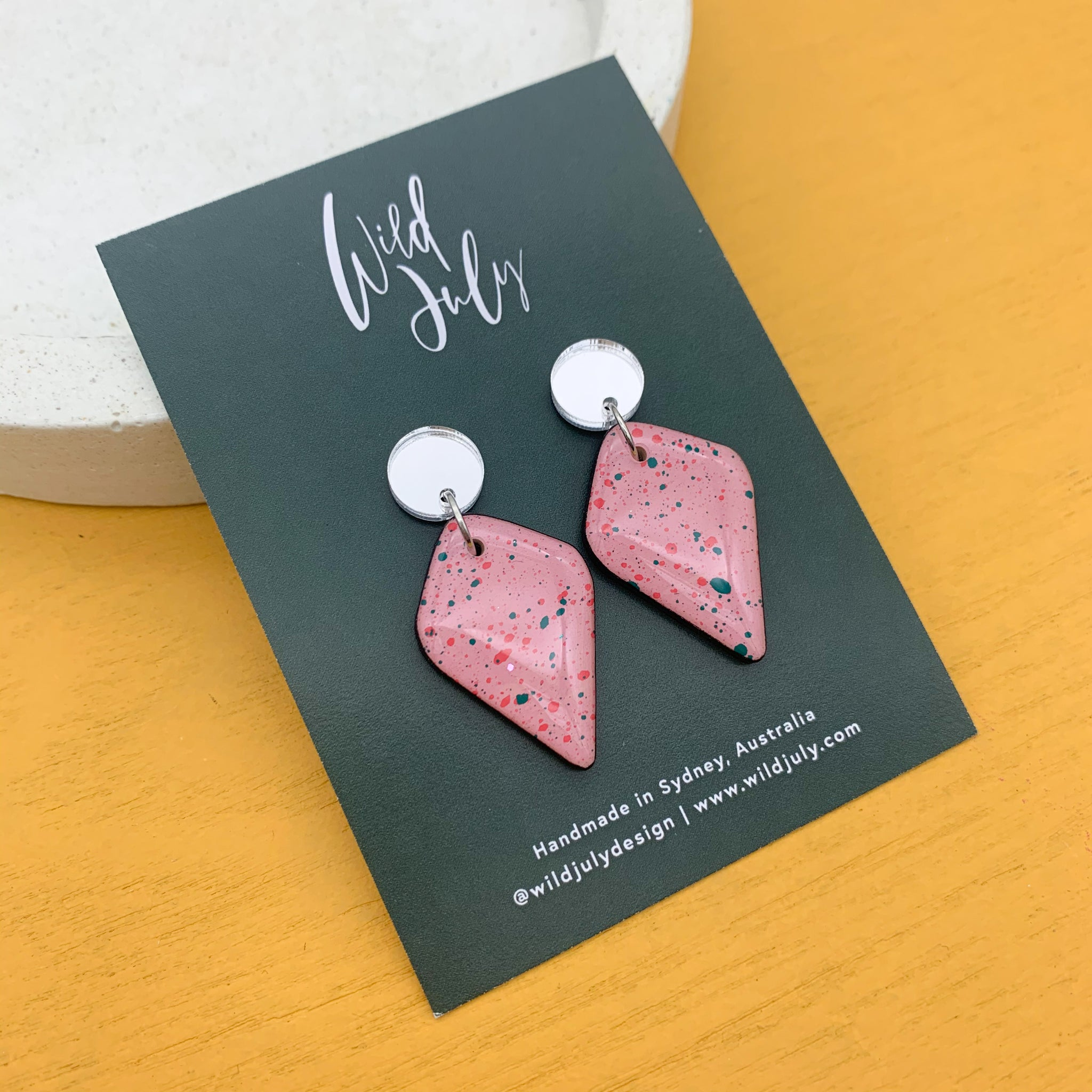 SPLATTER Mini Diamond Dangles