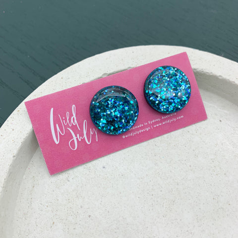 SPARKLE Midi Round Studs 20mm *CHOOSE COLOUR*