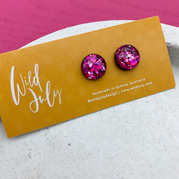 SPARKLE Mini Round Studs 10mm *CHOOSE COLOUR*