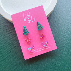 CHRISTMAS Triple Stud Pack