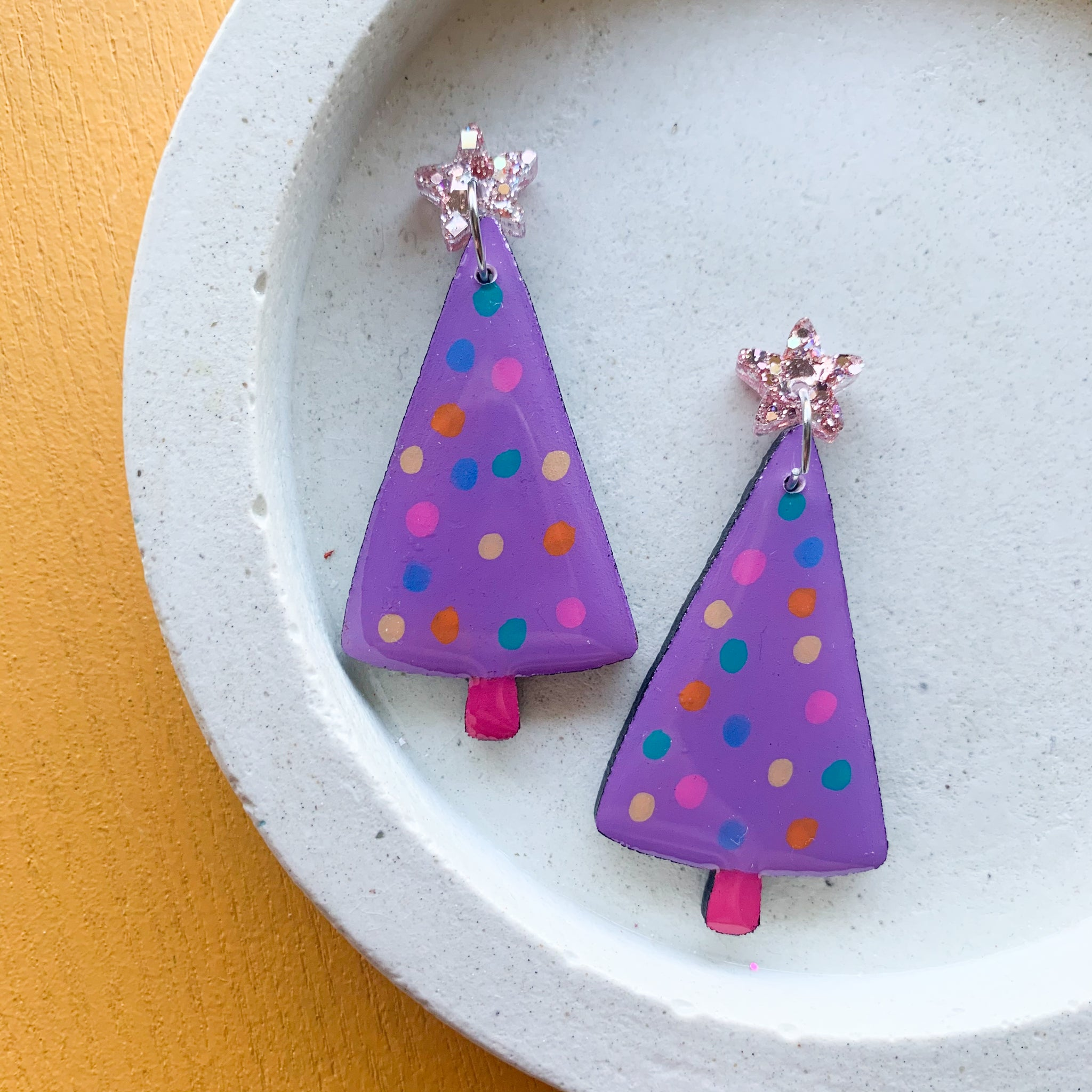 Spotty CHRISTMAS Tree Dangles