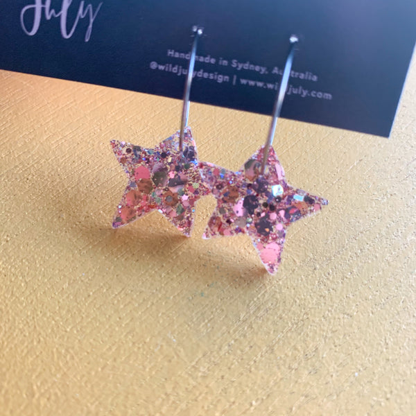 CHRISTMAS Star Hoops