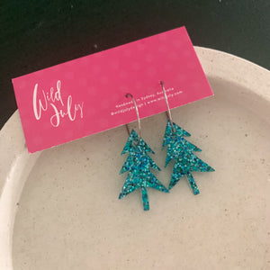 CHRISTMAS Tree Hoops