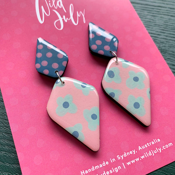 SPOTTY BLOOM Mega Diamond Dangles